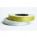 Bandrollen aus Metallic-Silber und Metallic-Gold für Textilarmbänder