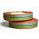 Ausgefallene Rolle mit metallischem Multicolor-Muster für Stoffarmbänder