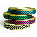Ausgefallene Bandrolle in metallischen Karos für Textilarmbänder
