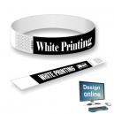 Paper wristbands white print Design yourself