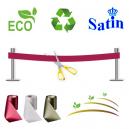 Einweihungsband ohne Aufdruck. Ökologisch, umweltfreundlich und nachhaltig.