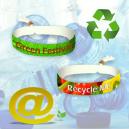 Textil-Festival-Armbänder aus recyceltem PET-Polyester