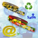 Nastri regalo sostenibili e riciclati realizzati in tessuto ECO RePET