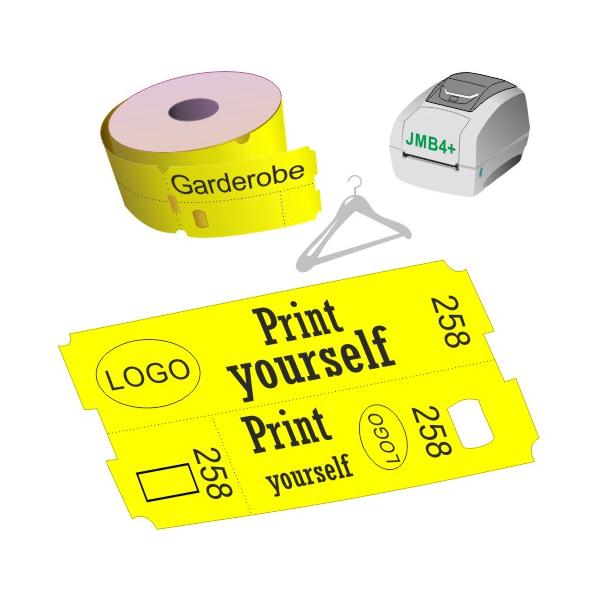 Direkte Thermo Garderobe Ticket Rollen für JMB4+ Drucker