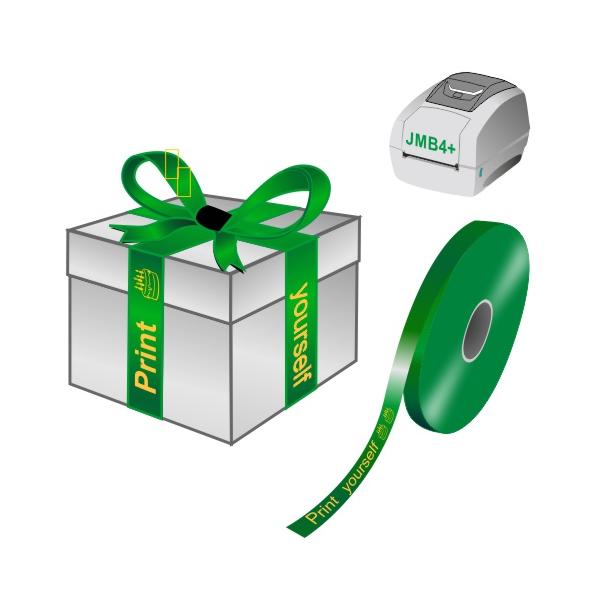 Drucken Sie selbst Geschenkbänder auf einem JMB4+ Thermodrucker