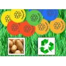 Nachhaltige Wertmarken aus Kartoffelstärke