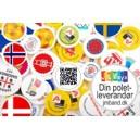 Wertmarken mit Logo und Text in voller Farbe gedruckt