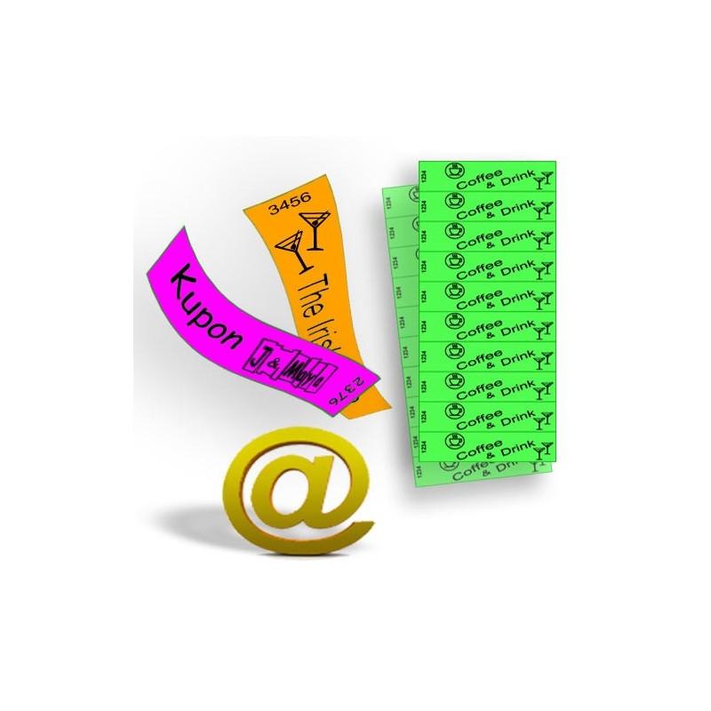 Gutscheine und Tickets auf Tyvek-Papier gedruckt