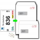 Verpacken von Startnummern in Umschlägen
