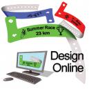 Design Online-Kunststoff-Armbänder mit Logo und Text