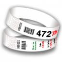 Startnummernbänder mit Barcode und fortlaufender Nummerierung