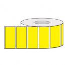 Rollen mit farbigen Klebeetiketten für den Thermotransferdruck