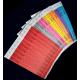 Gedruckte Papierarmbänder mit Text und Logo