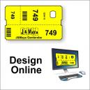Biglietti per guardaroba - design online