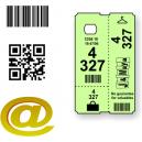 Maßgeschneiderte Thermo Garderobe Tickets mit Text und Logo