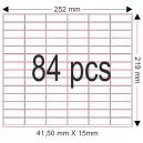 Klebefolie zum Aufkleben auf 19mm Papierbänder