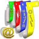 19mm schmale Kunststoffarmbänder mit Aufdruck