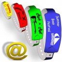 25mm Kunststoffarmbänder W senden Sie Ihr Design