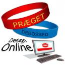 Entwerfen Sie online Silikon-Armbänder mit Ihrem Text und Ihrem Logo