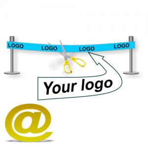 Senden Sie Ihr Design eines Einweihungsbandes mit Logo und Text