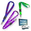 Design online Lanyards mit Siebdruck