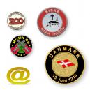 Weich emaillierte Münzen und Jetons