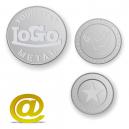Aluminium-Token und Münzen mit Logo und Text geprägt