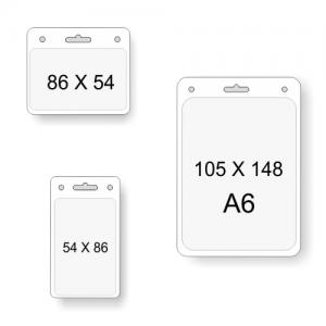 Transparente Kartenfächer in verschiedenen Größen