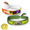 Polyester Textil Festival Armbänder in voller Farbe gedruckt