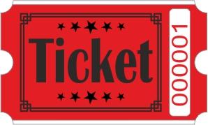 Ticketrollen - Rot