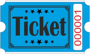 Ticketrollen - Blau