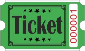 Ticketrollen - Grün