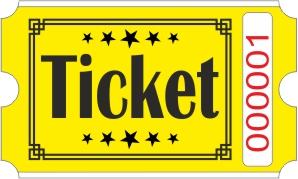 Ticketrollen - Gelb