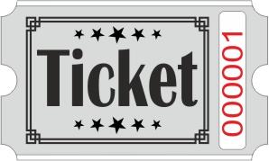 Ticketrollen - Grau