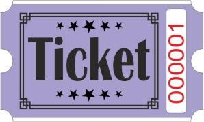 Ticketrollen - Lila
