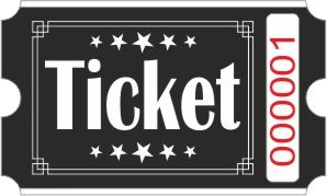 Ticketrollen - Schwarz