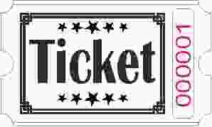Ticketrollen - Weiß